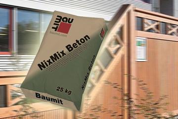Baumit NixMix Beton - ohne Mischwerkzeug betonieren!