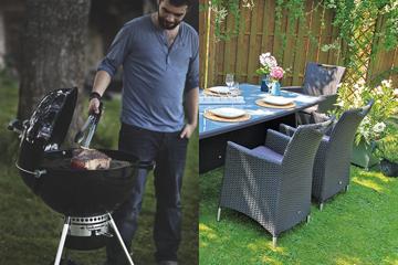 Das Leben im Garten genießen - Gartenmöbel und Griller