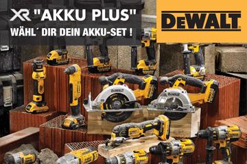 DeWalt Akku plus - Wählen Sie Ihr Akku-Set!
