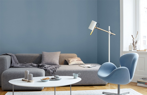 24 Wandfarbe Grau Blau