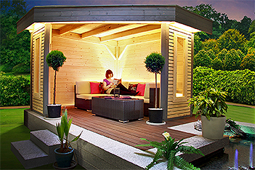 ihr individuelles gartenhaus carport oder pavillon. Black Bedroom Furniture Sets. Home Design Ideas