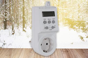 die Zeitschaltuhr mit Temperatursensor