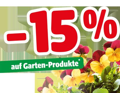 - 15% auf Garten-Produkte*