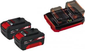 Einhell Starterkit Set Twinladegerät + Twinpack 4 Ah + wie 4512083 nur mit 2x4Ah Akkus
