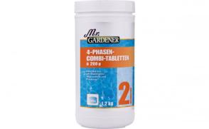 Mr. GARDENER 4 Phasen Combi-Tabletten 1,2 Kg zur Wasserpflege 0507702MG